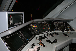 European Train Control System - ETCS – Man-Machine-Interface as part of driver cab