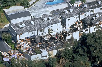1994 Northridge earthquake - Section of collapsed low-rise apartment buildings
