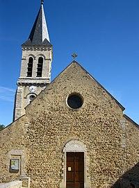 Façade ouest de l'église Notre-Dame de Villecresnes.JPG