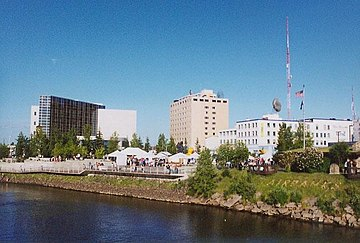 Fairbanks, Alaska's second-largest city and by a significant margin the largest city in Alaska's interior Fairbanks05.jpg