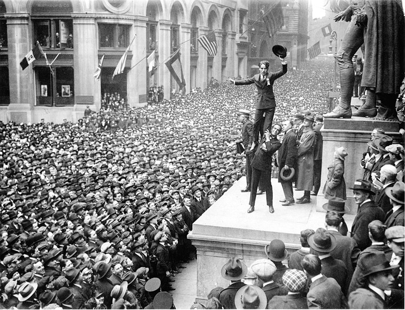 Fairbanks and Chaplin, Wall Street Rally, New York Times, 1918
