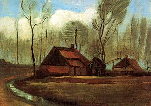 Cottages (Van Gogh series) - Farmhouse Among Trees, 1883, Museum Kolekcji Jana Pawla II, Warsaw, Poland (F18)