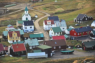 Gjógv - Image: Faroe Islands, Eysturoy, Gjógv (1)