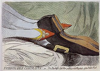 Princess Frederica Charlotte of Prussia - Image: Fashionable contrasts james gillray