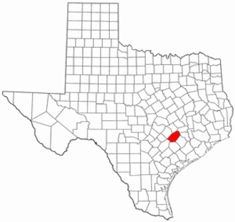 National Register of Historic Places listings in Fayette County, Texas - Location of Fayette County in Texas