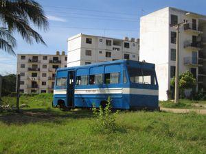 Transport in Cuba - Ferro Bus in Levisa near Mayarí in Holguín Province