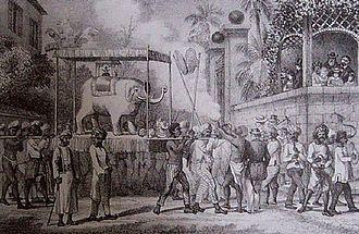 Réunion - Hindu festival, nineteenth century