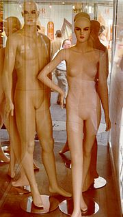 A pair of mannequins