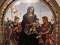 Filippino lippi, madonna col bambino tra i santi stefano e giovanni battista, 1503, da sala dell'udienza di pal. del comune, 02.JPG