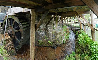 Finch Foundry - One of Finch Foundry's water wheels