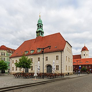 Finsterwalde Place in Brandenburg, Germany