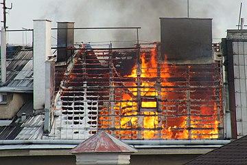 Fire in Olomouc, Gorazdovo náměstí.jpg