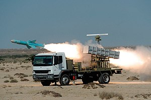 C-704 - Image: Firing Nasr 1 Missile from a truck launcher