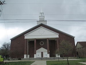 Alvord, Texas - The First Baptist Church at 205 Boling St. in Alvord, pastor Bill Cleveland (2013)