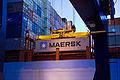 First Daily Maersk container arriving in Felixstowe 17 Nov 2011 (8056484508).jpg