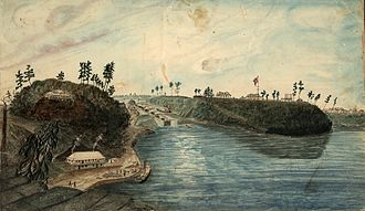 Major's Hill Park - Image: First Eight Locks of the Rideau Canal, the North entrance from the Ottawa River, 1834
