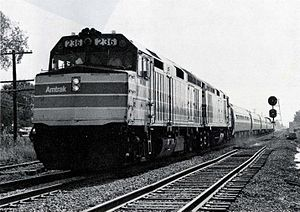 Hoosier State (train) - The first northbound Hoosier State on October 3, 1980