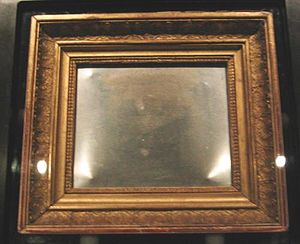 View from the Window at Le Gras - The original plate on display at the Ransom Center in 2004.