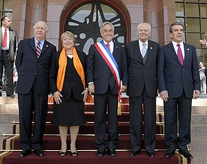 Five Chilean presidents since 1990