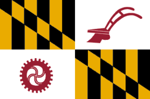 Brooklandville, Maryland - Image: Flag of Baltimore County, Maryland