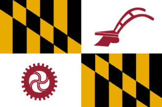Pikesville, Maryland - Image: Flag of Baltimore County, Maryland