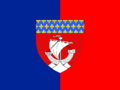 Flag of Paris with shieldpng.png