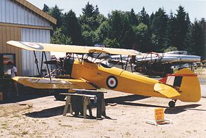 Fleet Finch - Fleet 16B Finch at the Canadian Museum of Flight in South Surrey BC, July 1988