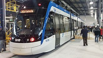 Flexity Freedom - Ion unit 501, at Ion OMSF during public tour event