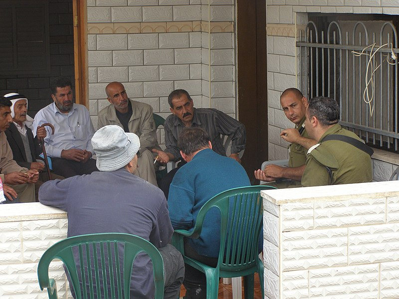 File:Flickr - Israel Defense Forces - Civil Admininstration Officer Meets With Dar-Almalkh Council Heads (1).jpg