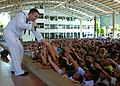 Flickr - Official U.S. Navy Imagery - A Sailor performs at the Darasamut Catholic School..jpg