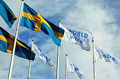Flying flags at the World Water Week in Stockholm.jpg