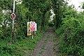 Footpath entering danger zone of military firing range on Deacon Hill - geograph.org.uk - 436473.jpg