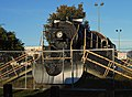 Former Alaska Railroad locomotive on display at Delaney Park Strip, Anchorage, Alaska.jpg