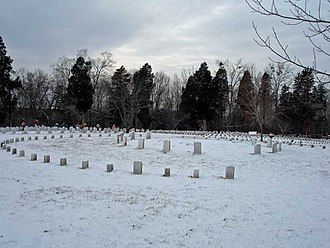 Fort Donelson National Battlefield - A portion of Fort Donelson National Cemetery