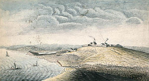 Fort Edward (Nova Scotia) - Fort Edward by Capt. John Hamilton (1753)