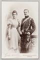 Fotografi av Irma von Hallwyl och Wilhelm von Geijer införd husaruniform - Hallwylska museet - 89076.tif