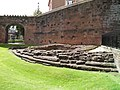 Foundation of the south-east angle of the Roman Fortress wall and internal tower, built between 74 and 96 AD, Deva Victrix (Chester, UK) (8392244794).jpg