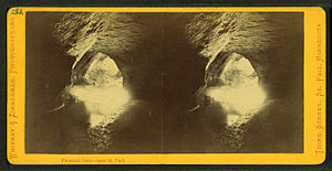 "Pierre Parrant - Fountain Cave, site of the first saloon in Saint Paul, Minnesota, operated by Pierre ""Pig's Eye"" Parrant"