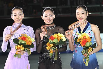 2011 Four Continents Figure Skating Championships - Ladies' podium