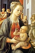 Fra Filippo Lippi - Madonna with the Child and Scenes from the Life of St Anne (detail) - WGA13238.jpg