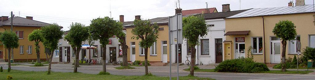 Fragment zabudowy frampolskiego rynku