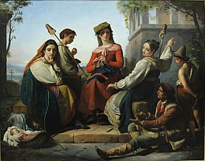 Women Spinning in Fondi