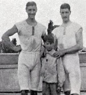 François Brandt - François Brandt (left), Roelof Klein and their coxswain at the 1900 Olympics