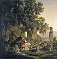 Franc Kavčič - Krajina z motivom nimfeja Domicijanove vile.jpg