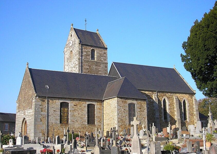Parigny (Normandie, France). L'église.