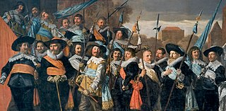 <i>The Officers of the St George Militia Company in 1639</i> Group militia painting (schutterstuk) by Frans Hals