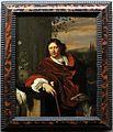 Frans van mieris, ritratto d'uomo con bastone, un servitore moro e un cane, 1672-73 ca.jpg