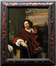 Frans van Mieris the Elder: Portrait of a Man with a Cane
