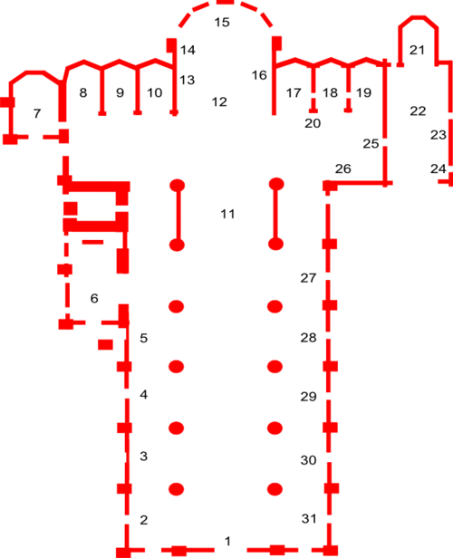 Plan of the basilica.