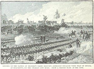 Battle of Glendale - Slocum's artillery engages Huger's